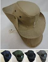 Cotton Boonie Hat with Cloth Flap [SOLID]